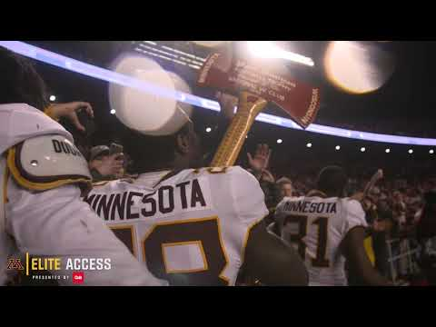 Elite Access: Gophers Celebrate with Paul Bunyan's Axe!