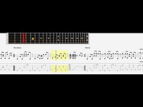 Guetta David - Titanium acoustic lesson guitar tabs note - YouTube