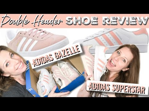 SNEAKER REVIEW 2020: Ice Pink Adidas Gazelles & Glow Pink & White Adidas Superstars