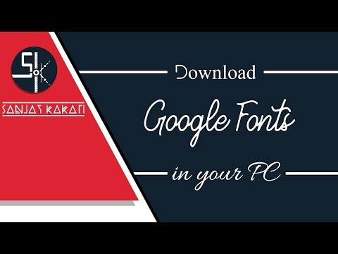 How To Download All Google Fonts At Once | Easy Way To Download Google Fonts On Your PC