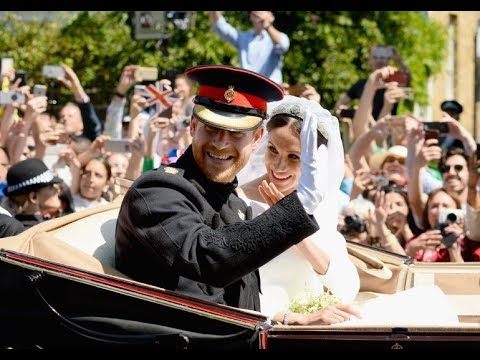 Royal Wedding: Newly married Prince Harry and Meghan ...