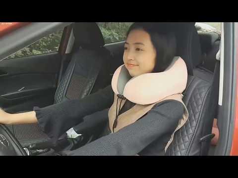 Лучшая подушка для путешествий в машине и в самолете, автоподушка, подушка на подголовник в авто.