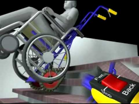 Galileo Wheelchair Stair Climber Dolly & Galileo Wheelchair Stair Climber Dolly - YouTube