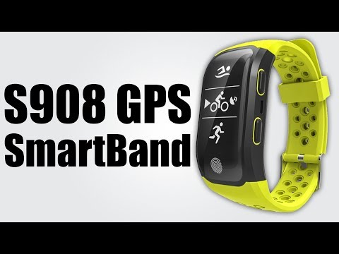 S908 GPS Sports Smartband - Pedometer / Sedentary reminder / Heart rate monitor / Sleeping monitor