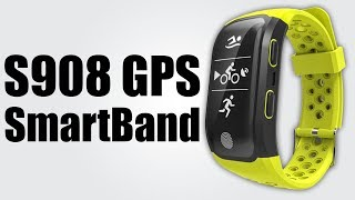 S908 GPS Sports Smartband - Pedometer / Sedentary reminder / Heart rate monitor / Sleeping monitor