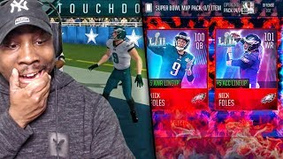 100 OVR SUPER BOWL MVP NICK FOLES PLAYING WR & QB! Madden Mobile 18 Gameplay Ep. 32