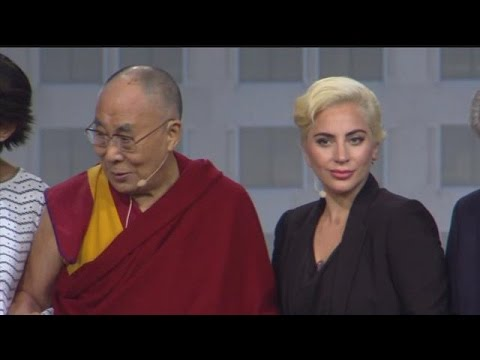 Question and answer with Dalai Lama and Lady Gaga