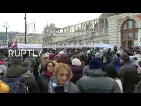 "LIVE: Hungary's trade unions protest in Budapest against ""sl"