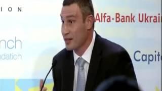 Выступление Кличко в Давосе