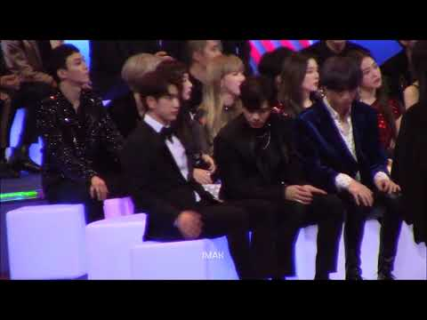 171201 MAMA GOT7 (Jinyoung focus) Reaction to Karen Mok streaming vf
