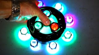 DIY Giant LED Fidget Spinner Mod! 3 EDC Hand Spinners Tutorials!