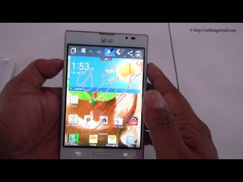 LG Optimus Vu II Review How to use Q Note or Quick Note full HD