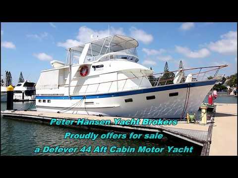 De Fever 44 Motor Yacht for sale at Peter Hansen Yacht Brokers Raby Bay