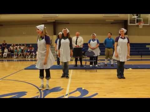 """The Main Event"" - the St Mary middle school teachers do a dance/lip synch number"