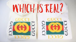Real vs Fake Gucci Logo Hoodie | Tips for Spotting Replica Gucci