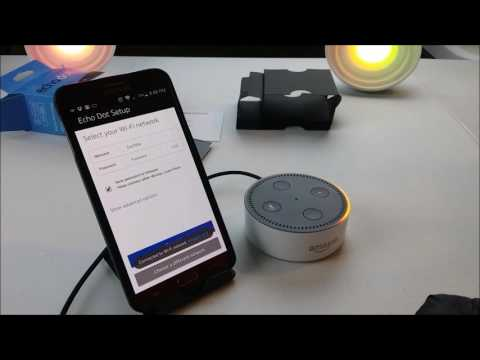 NEW Amazon Alexa Echo Dot Generation II - WIFI Setup