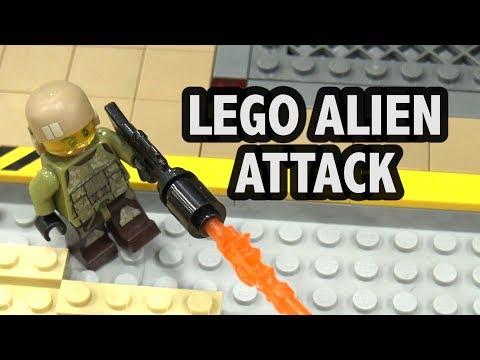 LEGO Space Base Alien Attack  | Bricks Cascade 2018