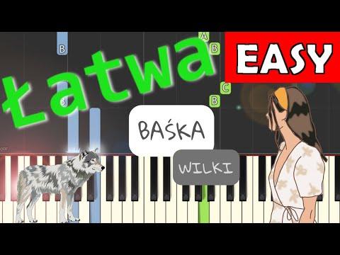 🎹 Baśka (Wilki) - Piano Tutorial (łatwa wersja) 🎹