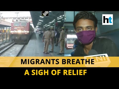 Watch: Over 800 UP migrant workers reach Lucknow in a specia