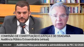 CCJ: CARLOS JORDY DEBATE COM PAULO GUEDES SOBRE REFORMA ADMINISTRATIVA
