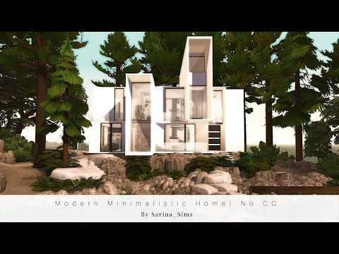 Modern Minimalistic Home | No CC | Stop Motion Build & Interior | The Sims 4