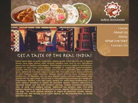 Very nice, beautiful Indian Restaurant Website Webpage Template