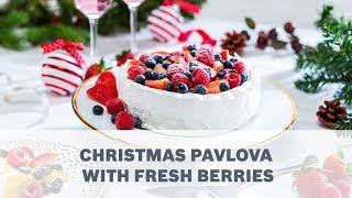 Christmas Pavlova with Fresh Berries Recipe – Cooking with Bosch