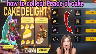 HOW TO COLLECT CAKE IN GAME // CAKE DELIGHT EVENTS FULL DETAILS//GARENA FREE FIRE//savage queen