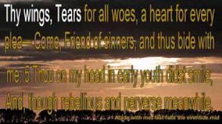 Abide with me; fast falls the eventide Karaoke Lyrics
