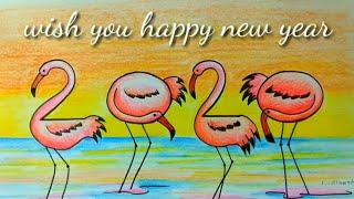 HAPPY NEW YEAR 2020 Drawing