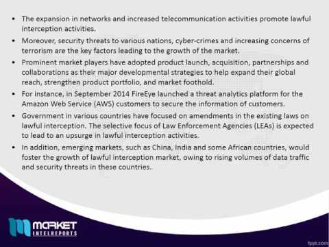 World Lawful Interception Market is anticipated to generate $3,328.7 million in 2022