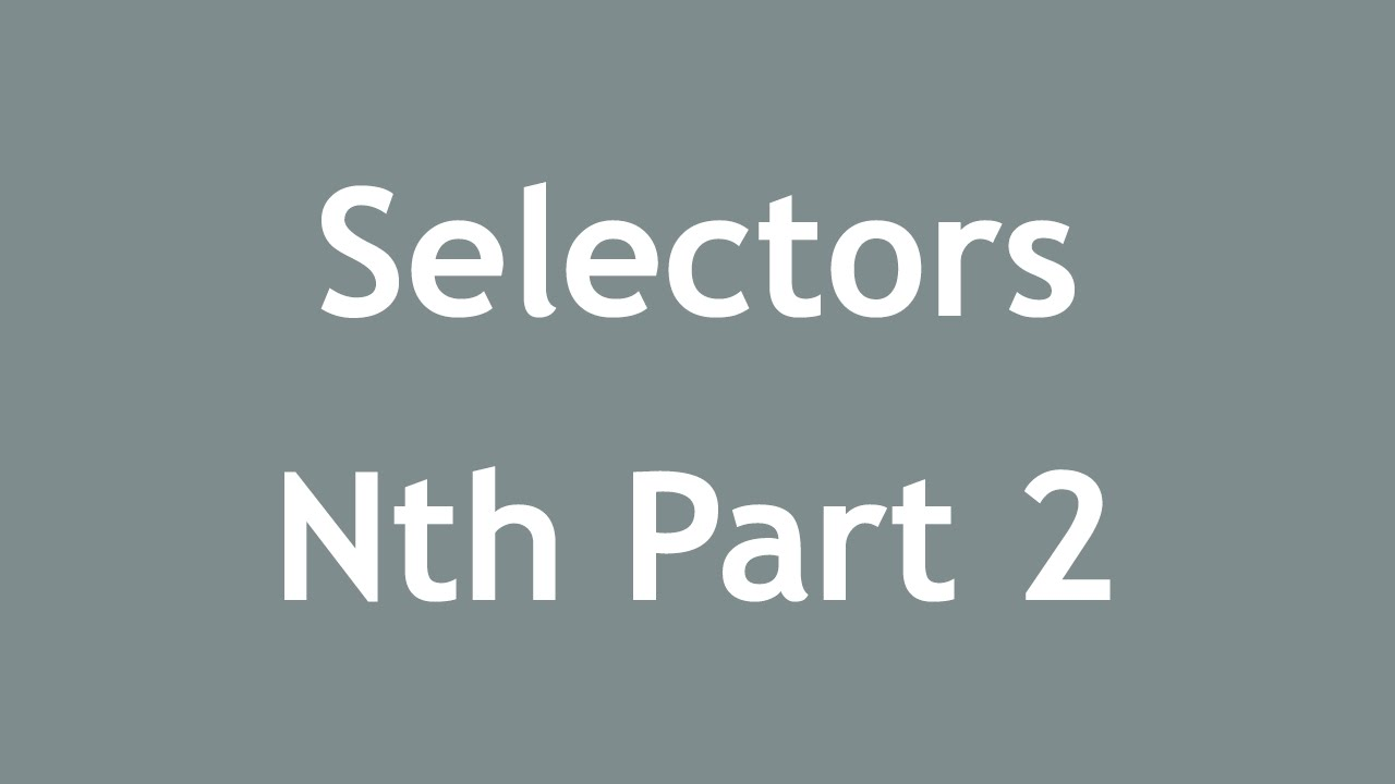 [ Css3 In Arabic ] #54 - Selectors - Nth-Child, Nth-Of-Type Part 2