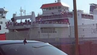 Catania - Catanzaro  2005/06 traghetti Messina tifosi Catania in fermento