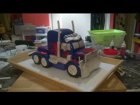 Make Optimus Prime Truck Cake