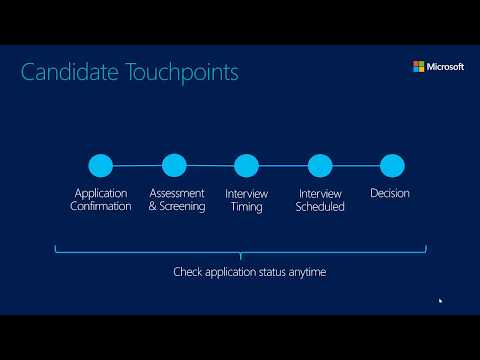 Check out the Dynamics 365 for Talent: Attract Candidate Experience