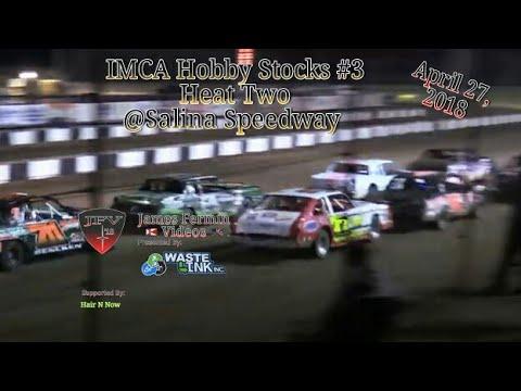 IMCA Hobby Stocks #3, Heat 2, Salina Speedway, 2018