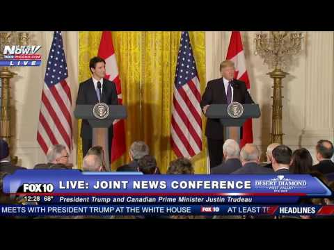 FULL: President Trump & Canadian PM Justin Trudeau Joint Press Conference (FNN)