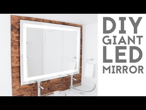 "DIY LED ""Framed"" Mirror | Modern Builds | EP.  74"
