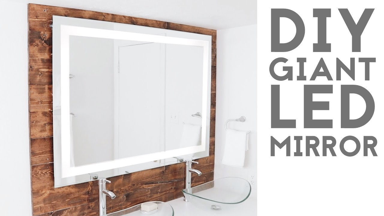 make your own bathroom mirror frame diy led quot framed quot mirror modern builds ep 74 25601