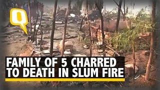 Family Of Five Charred To Death In Fire In North Delhi Slum
