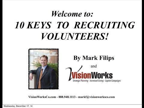 10 Keys to Recruiting More Volunteers!