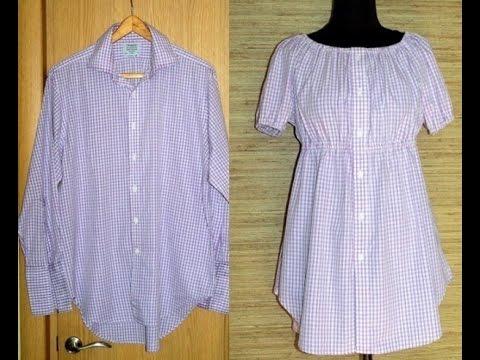 Как сшить из рубашки стильную блузку своими руками