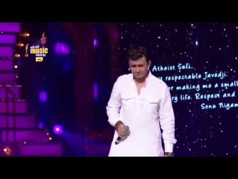 Thumbnail: An emotional tribute to Javed Akhtar from Sonu Nigam at the 7th Royal Stag Mirchi Music Awards