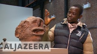 Congolese artist displays chocolate sculptures in New York