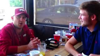 Justin Moore Talks About Kinda Don't Care How He Met His Wife And Arkansas Football