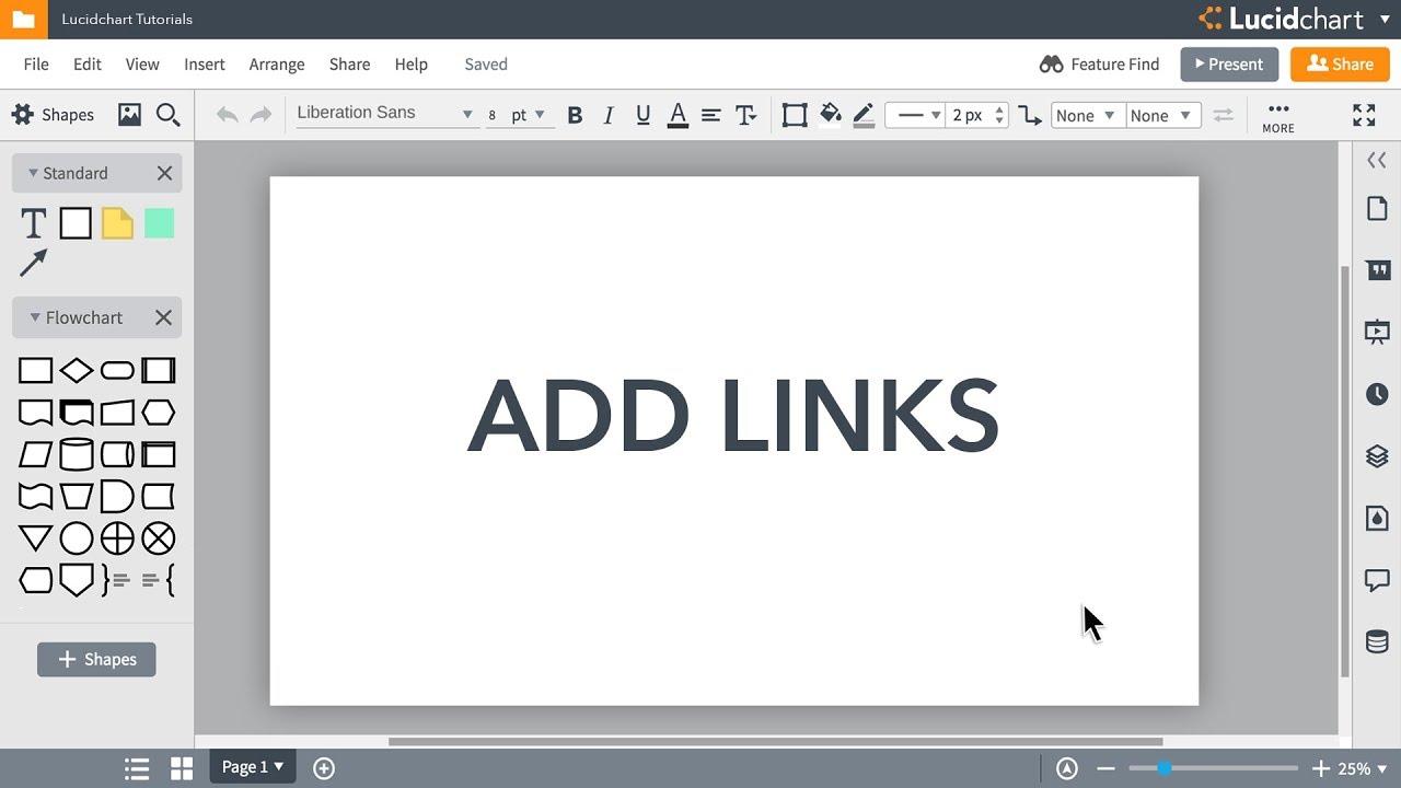 Lucidchart Tutorials - Add links to your document