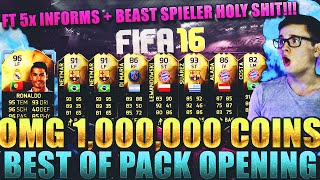 FIFA 16: PACK OPENING (DEUTSCH) - FIFA 16 ULTIMATE TEAM - OMFG 1 MIO BEST OF! FT 5 INFORMS! [TOTGS]