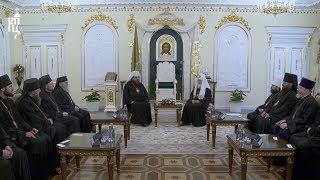 Святейший Патриарх Кирилл встретился с Предстоятелем Православной Церкви Чешских земель и Словакии