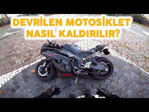 Devrilen Motosiklet Yerden Nasıl Kaldırılır ?