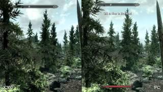 The Elder Scrolls V: Skyrim Xbox 360 vs PlayStation 3 vs PC Comparison HD